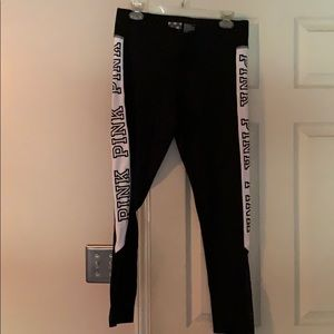 PINK Victoria Secret Black & White Leggings